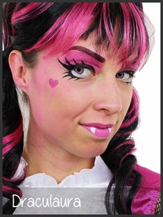 draculaura face painting by mimicks