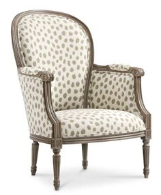 The Germaine Chair - The fabric is Poka from the Sunbrella Collection