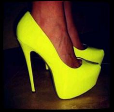 yellow shoes
