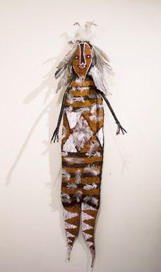"""Yawkyawk"" by Lena Yarinkura (2008), Ancestral Spirit Beings and Ceremonial Lorrkon, gallery gabrielle pizzi exhibition"
