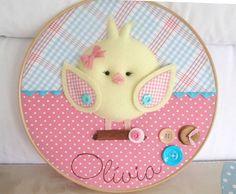 ideas for embroidery hoop nursery baby mobiles Embroidery Hoop Nursery, Embroidery Hoop Art, Diy Nursery Decor, Baby Decor, Baby Crafts, Felt Crafts, Felt Wreath, Felt Fabric, Diy Projects To Try