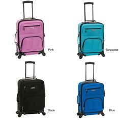 Roll with the effortless mobility with the Rockland carry-on upright. Four multi-directional wheels head in whatever direction you do with no added weight to your arm. Expands for extra space and offers endless comfort on your travel.