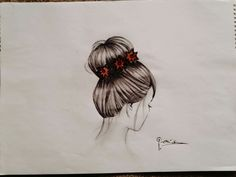 Topuz saç çizimi