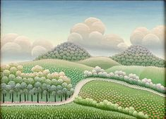 "Ivan Rabuzin, Croatian (1921-2008) Oil on Canvas ""Way Through The Countryside"""