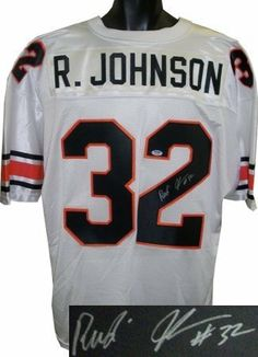 Rudi Johnson Autographed Hand Signed Cincinnati Bengals White Custom Jersey  discolor by Hall of Fame Memorabilia.  64.95. Rudi Johnson was drafted by  the ... 8e40e892a