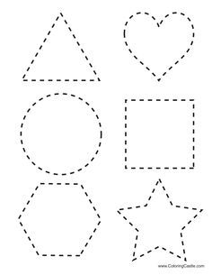 Tracing Shapes Printables | tracing shapes download here six shapes that can be traced