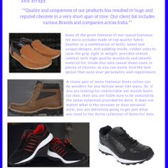 In Present, Aero footwear is most knowing footwear brand even customers are attracting due their best qualities of product in affordable price. fan Following of this brand had gained this year more then past. So, Lets do it!! - See more at: http://visual.ly/aero-best-footwear-brand-india-2016#sthash.FLyVZkHb.dpuf