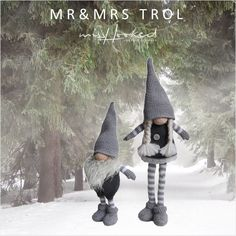 Mr&Mrs Trol - haken - kerst - pop - haakpatroon -  amigurumi - MrsHooked