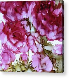 Eunice Warfel's painting 'Peony Abstract' with alcohol inks