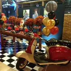 Festa Pin Up, Teen Beach, Disco Party, Baby Party, 20th Birthday, Party Themes, Table Decorations, Wedding, Furniture