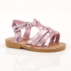 Toddlers Metallic Sandals - Pretty Pairs