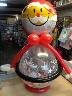 Christmas eve stuffed balloon We will be delivering these this year and can ring the bell and leave on the door step for the child