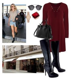 """""""Shopping with Her Younger Sister, Claire"""" by hrh-crownprincess ❤ liked on Polyvore featuring Olsen, Dorothy Perkins, Via Spiga, Christian Dior and Burberry"""