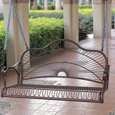 Sun Ray Porch Swing