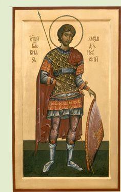 Αγ.Αλεξανδρος «νιεφσκι» (1220 - 1263)   __nov 23    (Икона св. благ. кн. Александр Невский