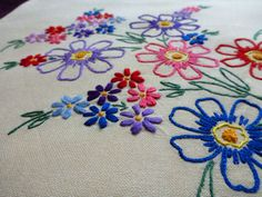 Vintage cotton 2 square PILLOWCASES embroidery pillow by Retroom, $11.00