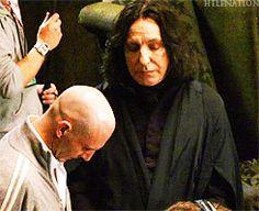 bitcheslovesnape: maggiesworlds: Voldemort: I think mine is big…. Snape: Nope. Mine is bigger.
