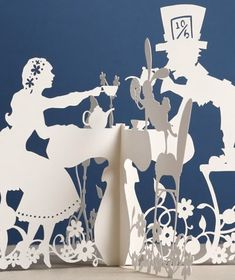 Paper cutout - Alice in Wonderland Tea Party Kirigami, Paper Cutting, Cut Paper, Wonderland Party, Alice In Wonderland, Papercut Art, Mad Hatter Tea, Adventures In Wonderland, Oeuvre D'art