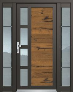 Inotherm entrance door model ASS 1799 door with lots of glass price on request at ., Inotherm entrance door model ASS 1799 door with lots of glass price on request at Wooden Front Door Design, Modern Front Door, Wooden Front Doors, House Entrance, Entrance Doors, Fixer Upper Style, Modern Exterior Doors, Wood Garage Doors, Tv Wall Design