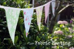 DIY Tutorial: Fabric Bunting