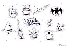 Doodle à téléchargé et colorier ou non pour Halloween / Free Dowload #Halloween Free Dowload, Justine, Illustration, Creations, Doodles, Halloween, Art, Art Background, Kunst