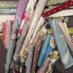 A Bargain Lot of Oilcloth Pieces for Bag-Makers etc.