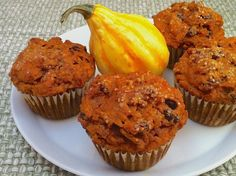 Pumpkin Bran Muffins -- there's a whole can of pumpkin in these moist and delicious muffins!