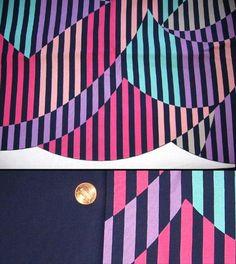 80's fabric print.