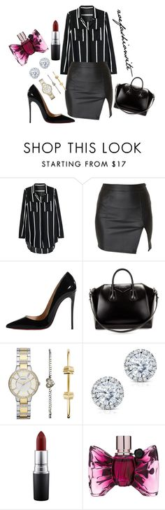 """""""Untitled #136"""" by zoefashionsite on Polyvore featuring Alice In The Eve, Christian Louboutin, Givenchy, FOSSIL, Kobelli, MAC Cosmetics and Viktor & Rolf"""