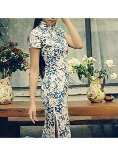 #480468 #AnnularRings #Qipao #Cheongsam - Blue and White Dress. Floral Cheongsam dresses - cheongsam for wedding,  cheongsam buy,  buy cheongsam,  modern cheongsam,  cheongsam pattern,  cheongsam patterns,  bridal cheongsam,  sexy cheongsam,  cheongsam sexy,  cheongsam gown,
