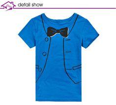 Free Shipping Summer Boys Tshirts Fake Little Tie Design,4pcs/lot K0120