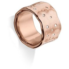 Monica Vinader 'Siren Scatter' Band Ring featuring polyvore, women's fashion, jewelry, rings, 18k jewelry, 18k ring, band rings, monica vinader and 18 karat gold ring