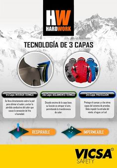 3e3239fd28 [HARDWORK: Casacas con Tecnología de 3 Capas] Conoce nuestros productos en:  http