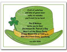 St. Patrick's Day Invitations: Irish DerbySt. Patrick's Day Party Invitations