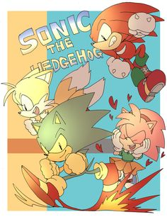 Sonic, Tails, Knuckles and Amy