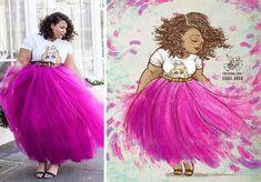 Stylish Plus-Size Fashion Ideas – Designer Fashion Tips Plus Size Art, Moda Plus Size, Plus Size Women, Curvy Fashion, Plus Size Fashion, Plus Size Inspiration, Plus Size Bodies, Fat Art, Black Women Art