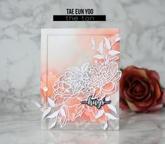 Hello everyone! I hope your week is off to a good start! It's TaeEun here. Today Ihave three floral cards in coral and gray color combination to share with you. I think coral and gray is a b…