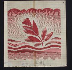 DigitaltMuseum - Mønstertegning