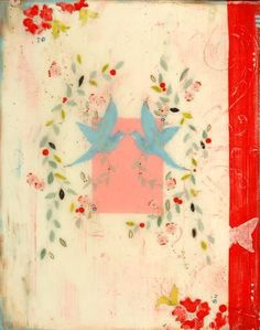 Kathe Fraga Art, www.kathefraga.com Kathe's paintings are inspired by the romance of vintage French wallpapers and Chinoiserie with a modern twist. Frescoed canvas with Japanese gold ink and oil glaze.
