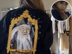 Ariana Grande's Dumbledore Jacket Is Pure Magic (and Sadly, One of a Kind) http://stylenews.people.com/style/2016/07/28/ariana-grande-harry-potter-jacket/