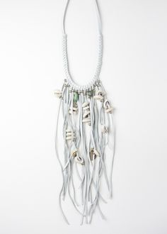 Tahoe Fringe Necklace - White by SoulMakes.com