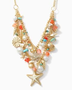 charming charlie | Sea Goddess Charm Necklace | UPC: 450900320508 #charmingcharlie