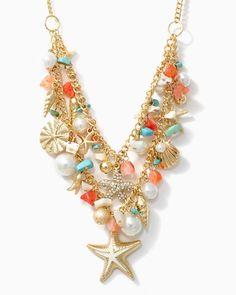 charming charlie   Sea Goddess Charm Necklace   UPC: 450900320508 #charmingcharlie