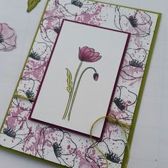Stampin' Up! Poppy Cards, Fun Fold Cards, Stamping Up Cards, Thanksgiving Cards, Card Sketches, Sympathy Cards, Flower Cards, Homemade Cards, Making Ideas