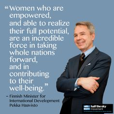 Finland's government has pledged to contribute $18 million to UN Women in 2014, making it one of the top three donors to the organization's core budget. Finnish Minister for International Development Pekka Haavisto explains why gender equality is an important priority.