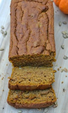 ThisHealthy Gluten Free Pumpkin Bread is packed full of delicious Fall flavors. Made with no refined sugar or wheat flour!