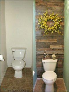 Pallet repurpose in the bathroom