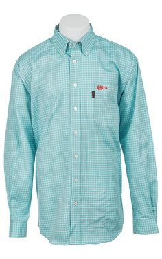 Cinch long sleeve boy 39 s fine weave shirt children 39 s for Cinch flame resistant shirts