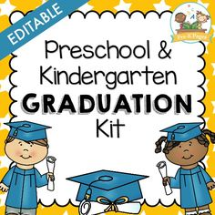 88 pages of graduation printables to make planning and preparing for a preschool, pre-k, or kindergarten graduation program easier! Add your own text to these done-for-you resources and create an amazing and memorable graduation program for your students and parents.