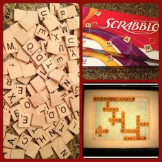 Scrabble letters in the shape of Grandchildren's name for a gift.  This blog has great DIY ideas!  Grandmothers will love this!